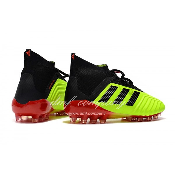 Adidas Men's Predator 18.1 AG Fluorescent Green And Black