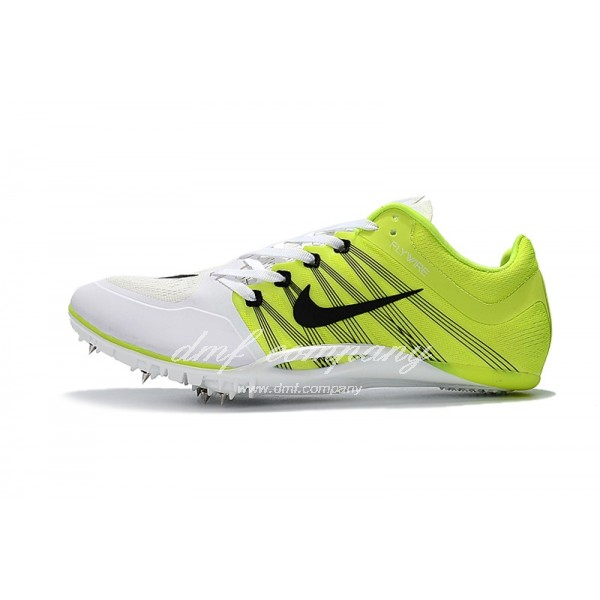 nike sprint spikes shoes Men Fluorescent Yellow/White