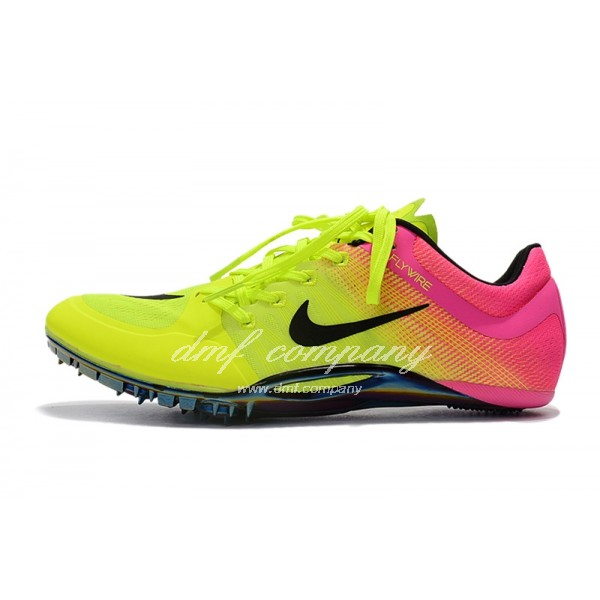 nike sprint spikes shoes Men Fluorescent Yellow/Pink