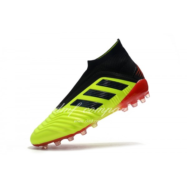 Adidas Men's Predator 18+AG Fluorescent Yellow and Black