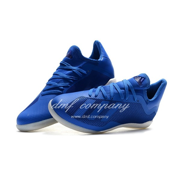 Adidas Men's X Tango 18.3 IC Blue Upper And White Sole
