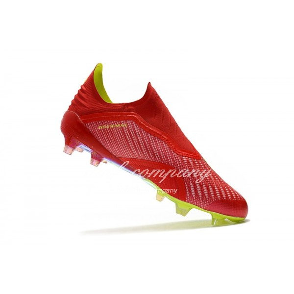 adidas X 18+ FG Men Red/Fluorescent Yellow