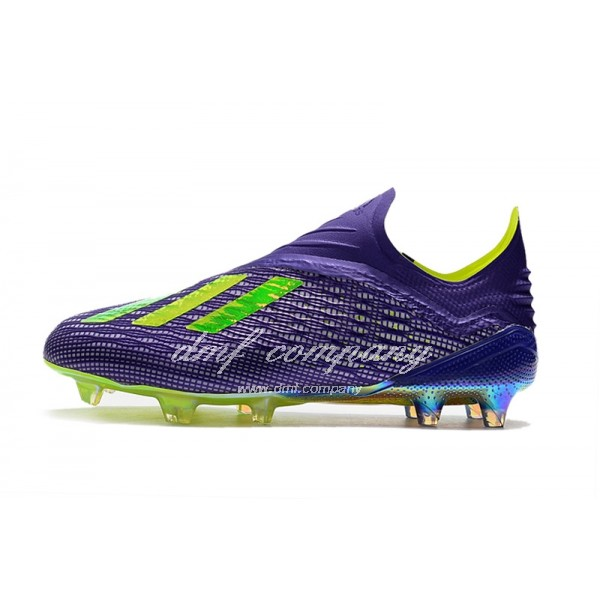 adidas X 18+ FG Men Purple/Fluorescent Yellow