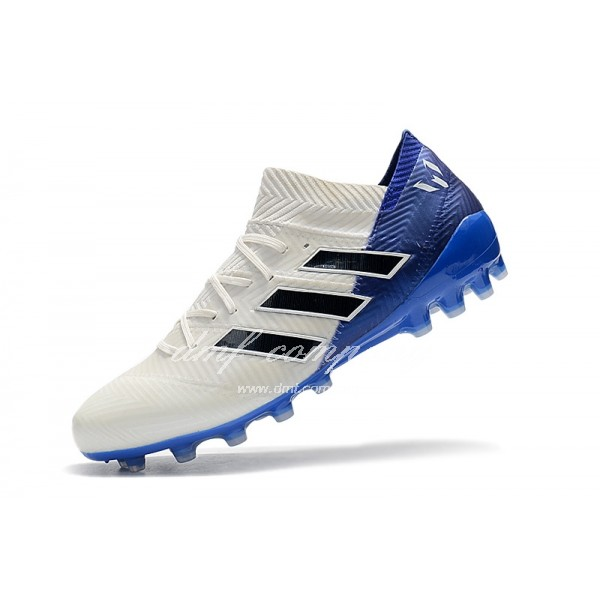 Adidas Men's Nemeziz Messi 18.1 AG White And Blue
