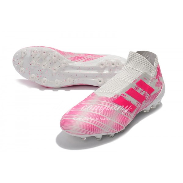 Adidas Men's Nemeziz 18+ AG White And Pink