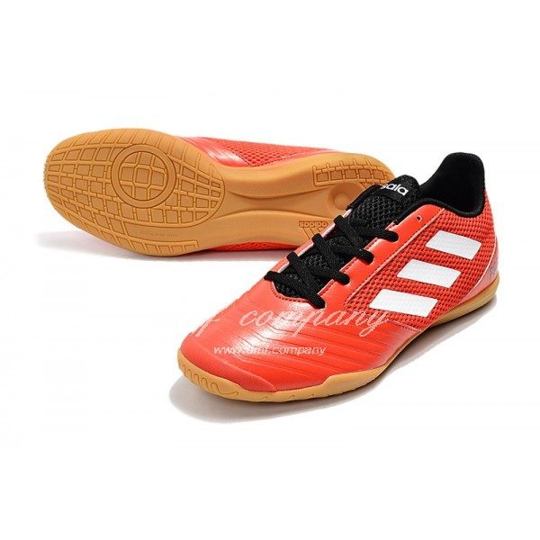 Adidas Men's Predator 19.4 IN Red White With Black Shoelace