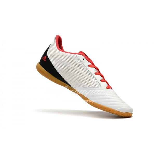 Adidas Men's Predator 19.4 IN White Black With Red Shoelace