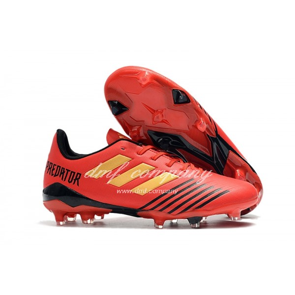 Adidas Men's Predator 19.4 FG Red And Black