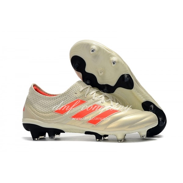 Adidas Men's Copa 19.1FG Milk White And Orange