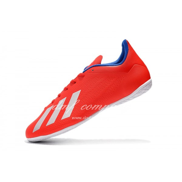 Adidas X Tango 18.4 IC Men's Red Silver Upper And White Sole