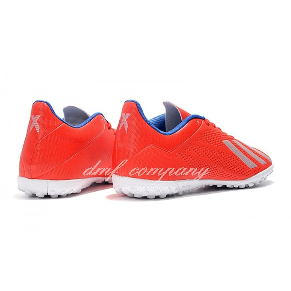 Adidas X Tango 18.4 TF Men's Red Silver Upper And White Sole