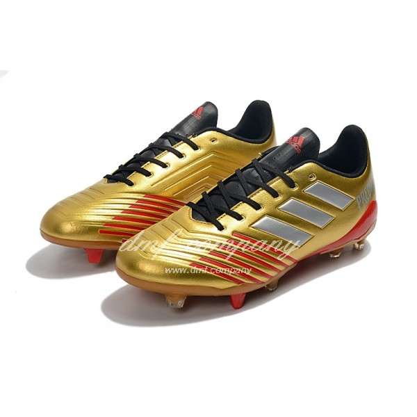 Adidas Men's Predator 19.4 FG Golden And Red