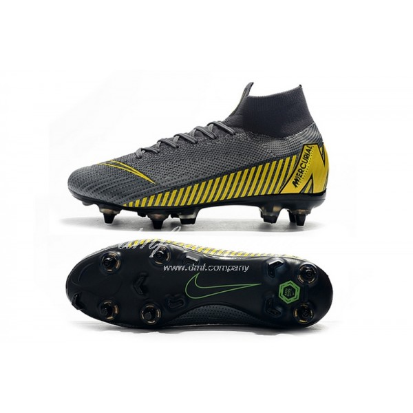 Nike Mercurial Superfly VI Elite SG AC Grey And Yellow Men