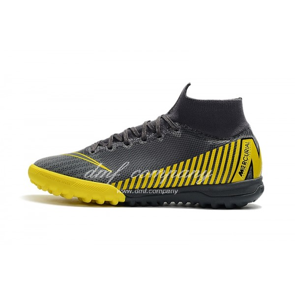 Nike SuperflyX 6 Elite TF Men And Women Black And Yellow