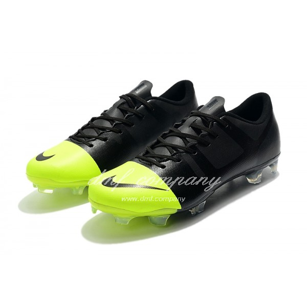 Nike Mercurial Superfly 360 GS FG Men Black And Fluorescent Yellow