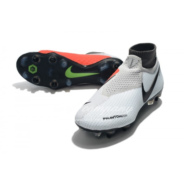Nike Phantom VSN Elite DF SG-Pro Anti Clog White And Red Men