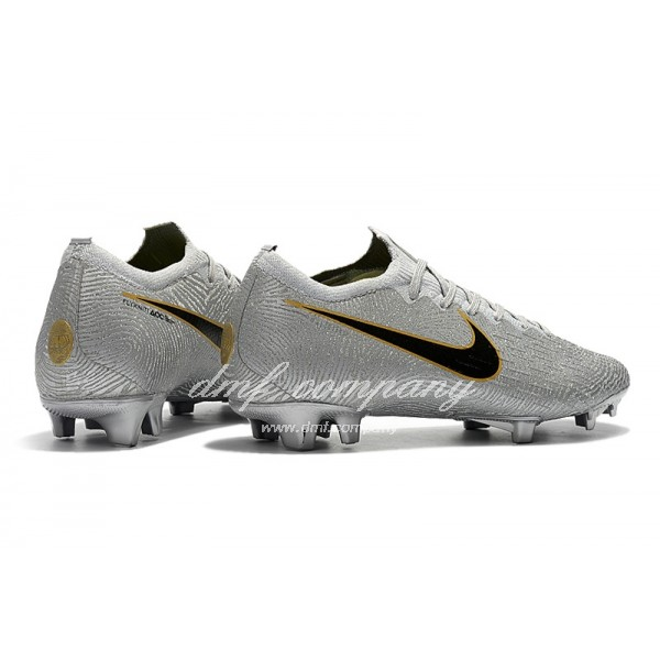 Nike Mercurial Vapor XII Elite FG Silver Black And Golden Men