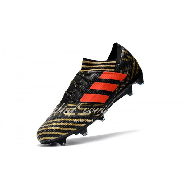 Adidas Nemeziz Messi 17.1 FG Men's Golden Stripe Black And Orange