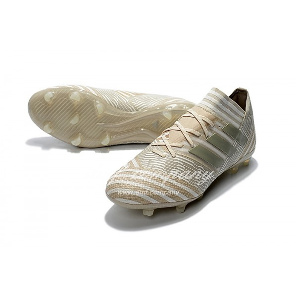 Adidas Nemeziz Messi 17.1 FG Men's White Stripe And Golden