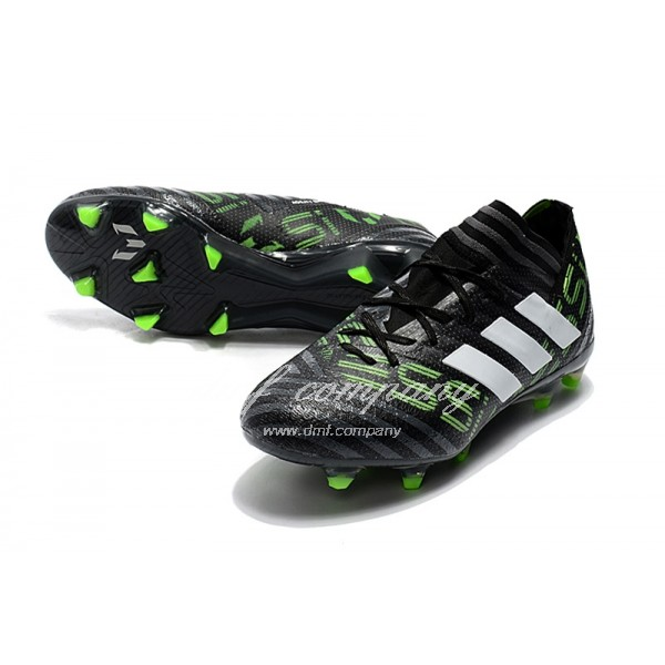 Adidas Nemeziz Messi 17.1 FG Men's Green Strip And Black