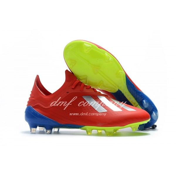 Adidas X 18.1 FG Men's Red Blue And Green