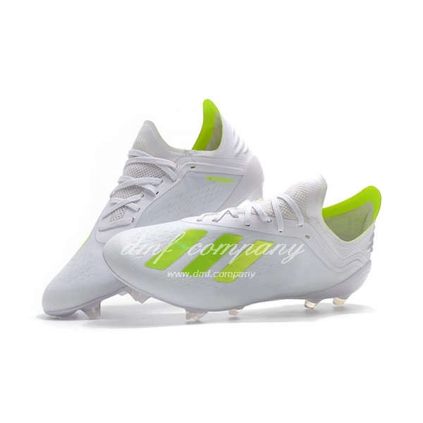 Adidas X 18.1 FG Men's White And Fluorescent Yellow