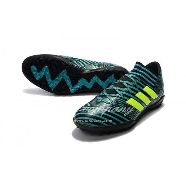 Adidas Nemeziz Tango 17.3 TF Men's Green Stripe Black And Fluorescent Yellow