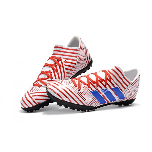 Adidas Nemeziz Tango 17.3 TF Men's Red Stripe White And Blue
