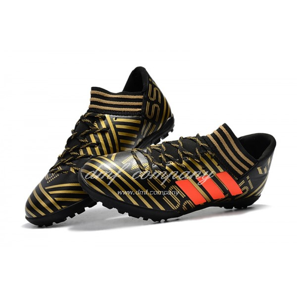 Adidas Nemeziz Tango 17.3 TF Men's Golden Stripe Black And Orange