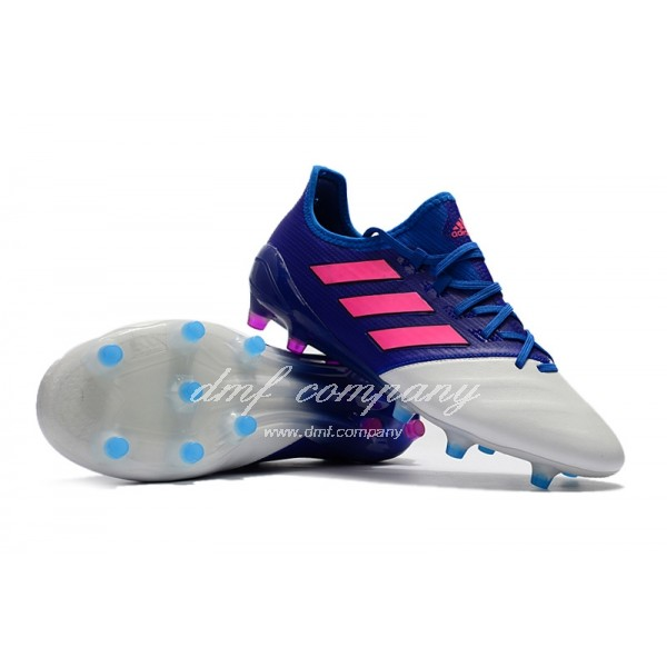 Adidas Ace 17.1 Leather FG Men's White Blue And Red