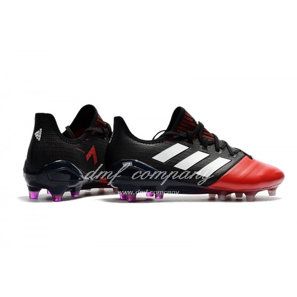 Adidas Ace 17.1 Leather FG Men's Red Black And White