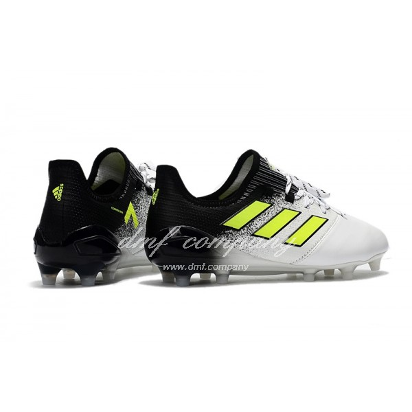 Adidas Ace 17.1 Leather FG Men's White Black And Yellow