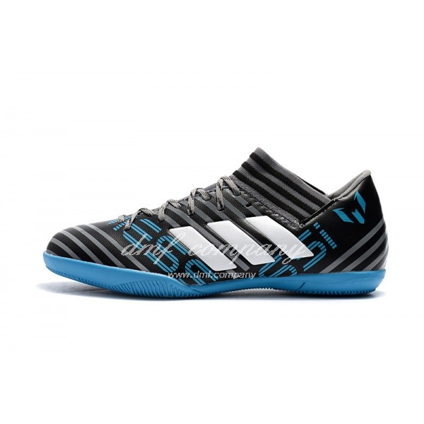 Adidas Nemeziz Tango 17.3 IC Men's Grey Stripe Black And Blue