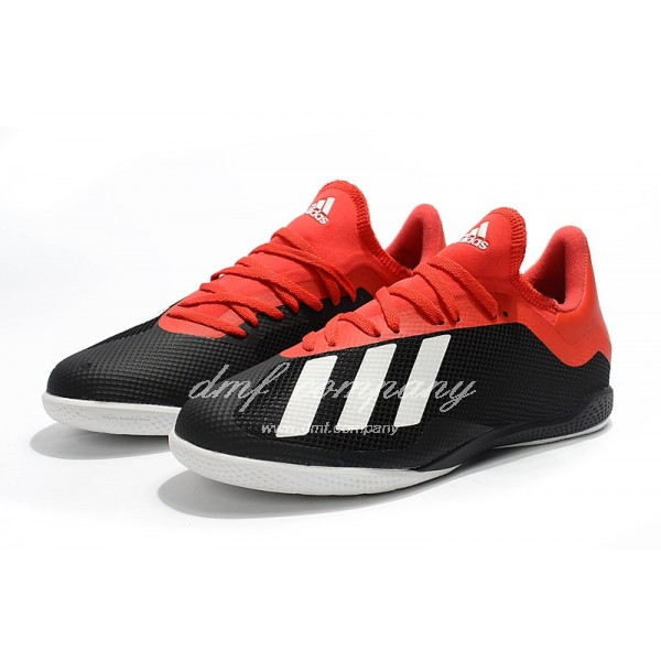 Adidas Men's X Tango 18.3 IC Black Red And White
