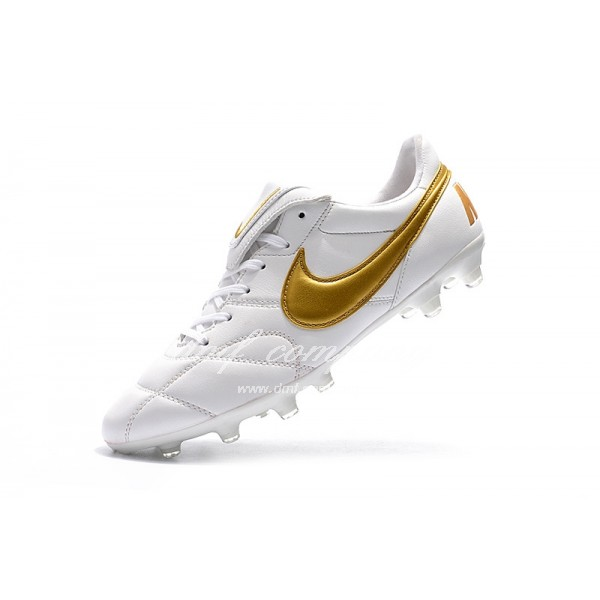 Nike Premier 2.0 Men White/Gold FG