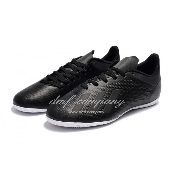 Adidas X Tango 18.4 IC Men's Black Upper And White Sole