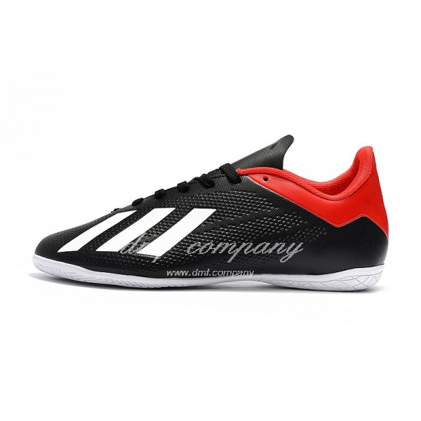 Adidas X Tango 18.4 IC Men's Black Red White Upper And White Sole