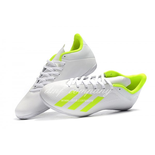 Adidas X Tango 18.4 IC Men's White And Fluorescent Yellow