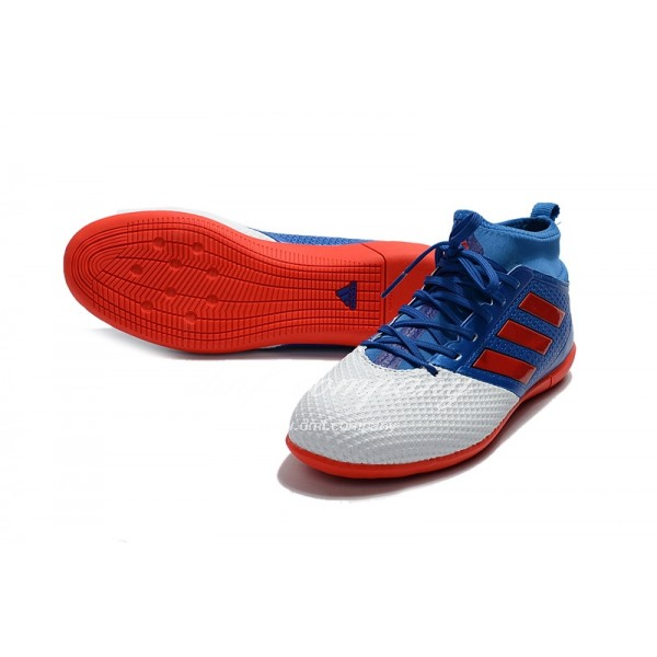 Adidas Ace 17.3 Primemesh IC Men's White Blue And  Red