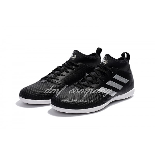 Adidas Ace 17.3 Primemesh IC Men's Black White Upper And White Sole