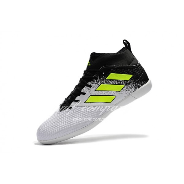 Adidas Ace 17.3 Primemesh IC Men's White Black And Fluorescent Yellow