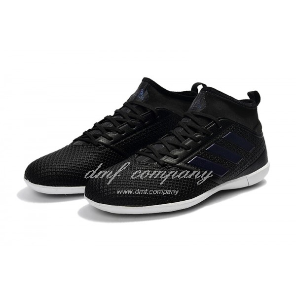 Adidas Ace 17.3 Primemesh IC Men's Black Upper And White Sole