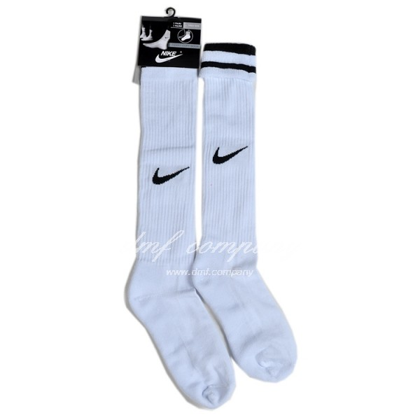 Nike Vapor Unisex Football Socks White with black logo