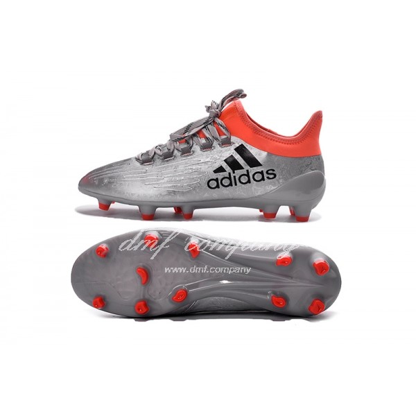 Adidas X 16.1 FG∕AG Men's Silver Red And Black