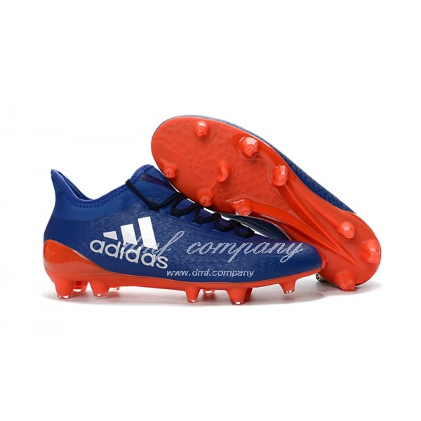 Adidas X 16.1 FG∕AG Men's White Blue And Red