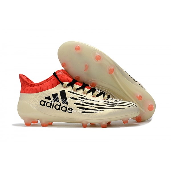 Adidas X 16.1 FG∕AG Men's Golden Black And Red