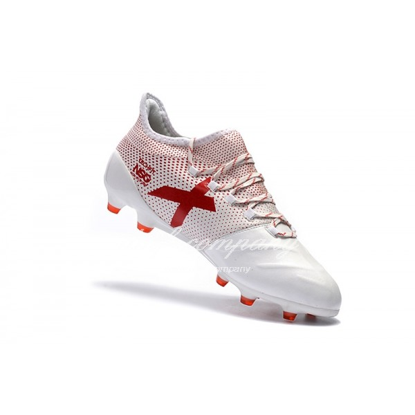 Adidas X 17.1 leather FG Men's Pink And Red
