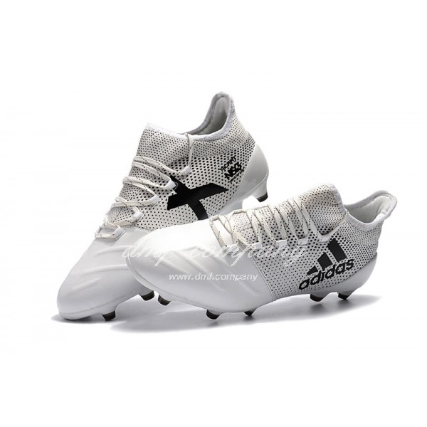 Adidas X 17.1 leather FG Men's White Grey And Black