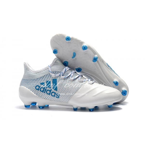 Adidas X 17.1 leather FG Men's White And Blue