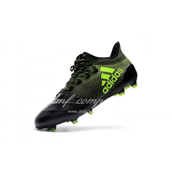 Adidas X 17.1 leather FG Men's Black And Green